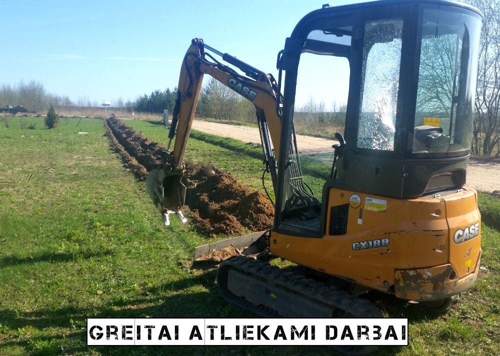 Mini ekskavatoriaus nuoma Vilniuje Polių gręžimas Bobcat nuoma 11